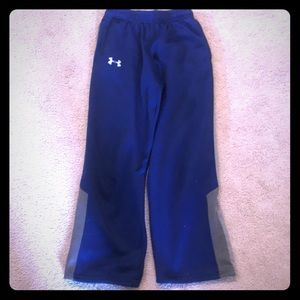 Blue and gray sweatpants